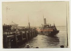 IOW Isle of Wight Ryde Pier Paddle steamer Boat Photograph Isle Of Wight, Royal Mail, Steamer, Vintage Photographs, Paddle, The Row, United Kingdom, Boat, Dinghy