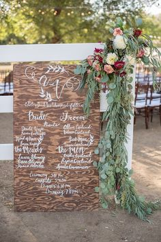 Check out this wooden program sign Chalkboard Wedding, Wedding Signage, Wedding Programs, Wedding Stationary, Diy Wedding, Rustic Wedding, Dream Wedding, Wedding Day, Wedding Stuff