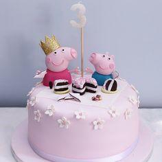 Peppa Pig Birthday Cake for Rebecca #peppaparty #peppapig