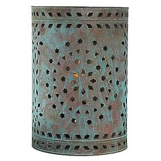 This unique copper wall sconces compliment any southwest or rustic decor. All of our Mexican wall sconces are authentic creations handmade by artisans in Mexico. Porch Lighting, Wall Sconce Lighting, Lighting Ideas, Southwestern Wall Sconces, Tin Can Lanterns, 6th Grade Art, Tin Can Crafts, Copper Wall, Red Walls