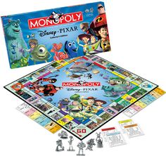 Pixar Monopoly - AFTER my childhood, unless you consider that I haven't grown up. Monopoly Board, Monopoly Game, Disney Games, Disney Pixar, Disney Mugs, Family Game Night, Family Games, Disney Collection, Bored Games