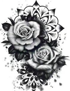 Badass Tattoos, Fake Tattoos, Flower Tattoos, Body Art Tattoos, Sleeve Tattoos, Cool Tattoos, Tattoo Art, Cover Up Tattoos For Women, Shoulder Tattoos For Women