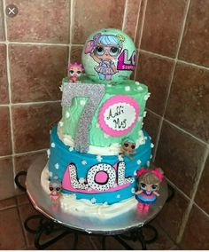 Lol Surprise Doll Birthday P. Doll Birthday Cake, Funny Birthday Cakes, Special Birthday Cakes, 6th Birthday Parties, Birthday Cupcakes, 8th Birthday, Surprise Birthday, Birthday Ideas, Bolo Fake Eva