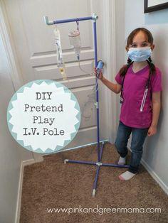 DIY-Pretend-Play-IV-Pole-Vet-Imaginary-Play-Kids-Fort-Magic