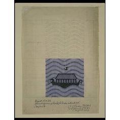 Textile design - Noah's Ark, C.F.A Voysey, August 1929