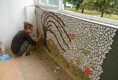 Vynovený balkón s mozaikou / .sk - slovenský handmade dizajn