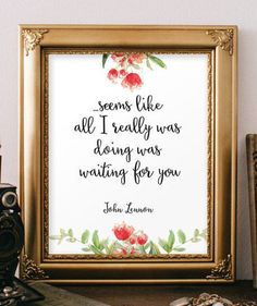 John lennon quote about love Romantic gift by TwoBrushesDesigns ##lovequotes