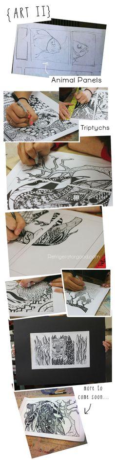 Penny Smith's World: High School Art Lesson: Zentangle Designs: Line