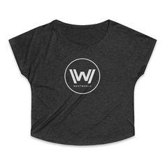 Westworld Logo Hbo 2016 Anthony Hopkins Women's Tri-Blend Dolman T-Shirt Anthony Hopkins, Logo, Mens Tops, T Shirt, Fashion, Supreme T Shirt, Moda, Logos, Tee