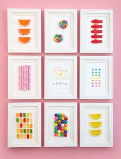 Cuadros de caramelos y chuches DIY