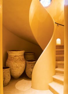 The design of the staircase is beautiful & all make with natural building materials. Architecture Design, Organic Architecture, Residential Architecture, Contemporary Architecture, Building Architecture, Pavilion Architecture, Architecture Interiors, Futuristic Architecture, Landscape Architecture