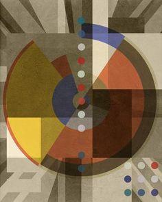 Composition THREE SIX FIVE (Bauhaus Series, 2016) - Limited Editions - Big Fat Arts | BFA Gallery | Czar Catstick - 1