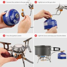 Terra Hiker 3500 W Camping Gas Stove, Backpack Stove, with Convenient Piezo Ignition, Durable, Portable Burner with Carrying Case Low Gravity, Camping Kocher, Camping Gas, Gas Pipe, Gas Stove, Time 7, Travel Light, Survival Skills, Aluminium Alloy