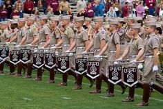 Now forming on the north end of Kyle Field, the Fightin' Texas Aggie Band! #kendrascott #teamKS