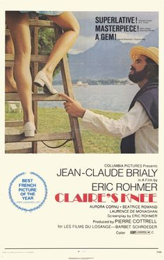 Le genou de Claire (Eric Rohmer, 1970) ☆☆☆/2 love this classic,, thought it was 71??? senior moment!!