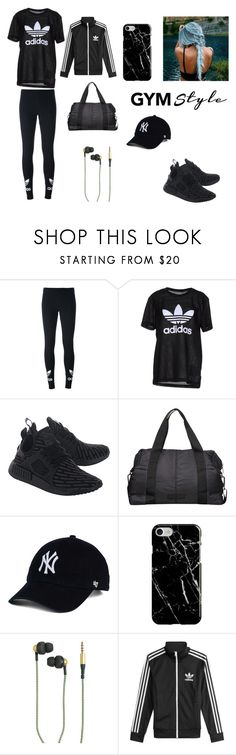 """""""Gym Time"""" by mxlyon ❤ liked on Polyvore featuring adidas Originals, adidas, Recover and Kreafunk"""
