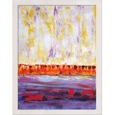 Lisa Carney Framed Hand Painted Oil on Canvas