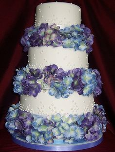 pinterest wedding cakes with hydrangeas | Hydrangea Wedding Cake
