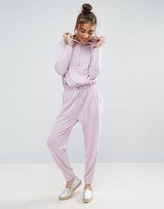 ASOS Jumpsuit with Cut and Sew Ruffle Pocket