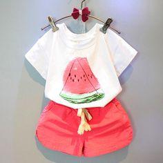 $5.63 (Buy here: https://alitems.com/g/1e8d114494ebda23ff8b16525dc3e8/?i=5&ulp=https%3A%2F%2Fwww.aliexpress.com%2Fitem%2F2016-Fashion-Baby-Kids-Girls-Watermelon-Tops-T-Shirt-Shorts-Pants-Summer-Outfits-Cute-Clothes-Set%2F32695253466.html ) 2016 Fashion Baby Kids Girls Watermelon Tops T Shirt Shorts Pants Summer Outfits Cute Clothes Set 0-5Y for just $5.63