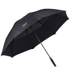 Bentley Golf Umbrella - Every aspect of the umbrella has been designed and crafted for a luxurious effortless experience. The premium carbon structure design combined with the dual canopy, provides strong ultra light performance and usability from mild to extreme weather conditions. The Bentley Golf Umbrella is finished with a luxuriously soft premium leather handle and topped with a precision CNC milled stainless steel Bentley Stylised cap. Golf Umbrella, Extreme Weather, Cool Tools, Leather Handle, Weather Conditions, Canopy, Cnc, Strong, Stainless Steel