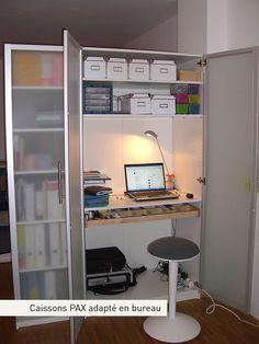 1000 id es sur le th me armoire pax sur pinterest ikea penderie pax armoir - Armoire bureau integre ...