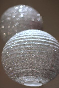 DIY Lanterns : DIY Sparkly Lantern - Great idea for decorations at a 25th Anniversary Party!