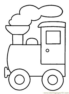 Train color pages. Transportation coloring pages. Coloring pages for kids. Thousands of free printable coloring pages for kids! Applique Templates, Applique Patterns, Applique Designs, Embroidery Designs, Applique Ideas, Train Coloring Pages, Printable Coloring Pages, Coloring Books, Fairy Coloring