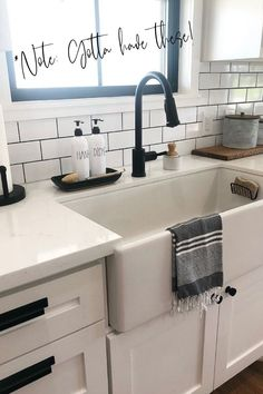 This super easy kitchen upgrade couldn't be faster.  The white hand and dish soap bottles make your kitchen look clean and organized in just 60 seconds.  Farmhouse Kitchen Decor - Refillable Soap Bottles for Kitchen - Home Decor Gifts - Housewarming Gifts - Modern Farmhouse - Home Organization for Kitchen Small Space Organization, Kitchen Organization, Farmhouse Kitchen Decor, Modern Farmhouse, Dish Soap Dispenser, Sink Organizer, Kitchen Upgrades, Housewarming Gifts, Modern Homes