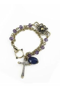 Diamante Cross Jewel Bracelet