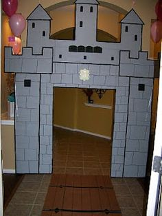 Great idea make a castle out of an old cardboard box