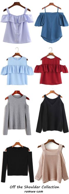 Pretty Off the Shoulder Tops from romwe.com 2017