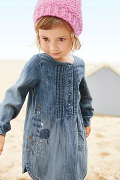 Kaufen Sie Kleid mit Feenmotiv aus Denim (3 Monate – 6 Jahre) heute online bei Next: Deutschland