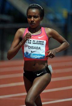 Ethiopian+women+running+5000+meter+race | Ethiopian Great Tirunesh Dibaba Leads Women's Field At Carlsbad 5000 ...