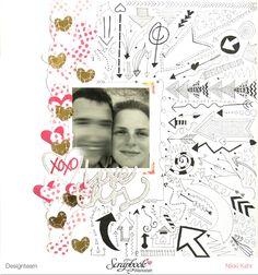 Layout - Love This mit dem Februarkit der Scrapbook Werkstatt von Nikki Kehr Nimena #scrapbooking #scrapbook #scrapbooklayout