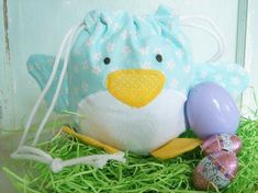 PDF Sewing Pattern  Spring Chick Drawstring Treat by winterpeach