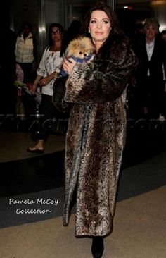 Lisa Vanderpump wearing her Pamela McCoy Faux Fur in January. Press and fans raised Cain because they thought she was wearing real fur!  Click on the photo to Shop Pamela McCoy.  Don't miss out! Watch live this Friday night on ShopHQ as EVINE Live presents the Pamela McCoy Collection. Friday, December 12th, 9:00pm -11:00pm ET Saturday, December 13th, 2:00pm -3:00pm ET Saturday, December 13th, 6:00pm - 7:00pm ET