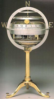 spherical, eight day skeleton clock - Henry Gratte