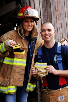 Our firefighter themed baby announcement :)