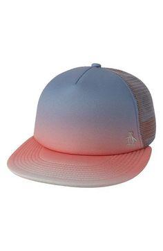 b4061593 Original Penguin 'Gradient Stripe' Snapback Trucker Hat Penguin Logo, Beach  Ready, Snapback