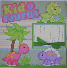 Kid+O+Saurus+Premade+Scrapbook+Pages+by+by+CreatedScrapsofLove,+$32.99