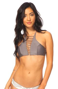 b87e147c5a Rip Curl  Luna Lux  High Neck Bikini Top available at  Nordstrom Swimsuit  Shops