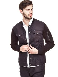 EUR149.90$  Watch here - http://vitad.justgood.pw/vig/item.php?t=z46iz258523 - JACKET WITH CONTRASTING SLEEVES