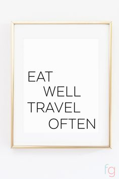 Free Printable Wall Art   Apartment Kitchen Decor Ideas   Free Printable Kitchen Art   Free Kitchen Printables Black and White   Eat Well Travel Often   Kitchen Gallery Wall Printables