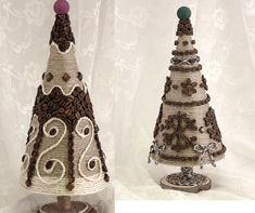 Елку из джута, шпагата своими руками на Новый год как сделать, украсить? Christmas Decorations, Christmas Tree, Kegel, Christmas Projects, Decorative Bells, Burlap, Felt, Handmade, Diy