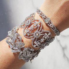Diamond Bracelets, Cuffs & Bangles : Diamond Bracelet Stack - Buy Me Diamond Diamond Bracelets, Ankle Bracelets, Diamond Jewelry, Jewelry Bracelets, Jewellery, Bracelets En Argent Sterling, Modern Jewelry, Vintage Jewelry, Necklace Designs