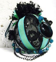 Gothic Seafoam Christmas Ornament Custom hand by LalaDangerous, $12.50