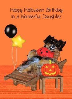 Birthday On Halloween To Daughter, Pomeranian in bug costume Greeting Card  #Birthday #BoysHalloweenCostumes #Card #Costume #Daughter #Greeting #Halloween #Pomeranian Halloween Spirit