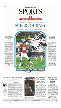 Sports page layout.