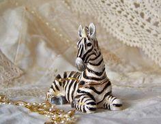 Vintage Zebra Bejeweled Trinket Box by cynthiasattic on Etsy, $39.00